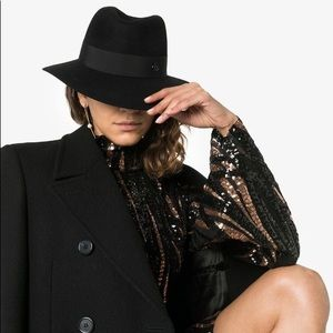 Authentic Helen Karminski 100% rabbit fur hat